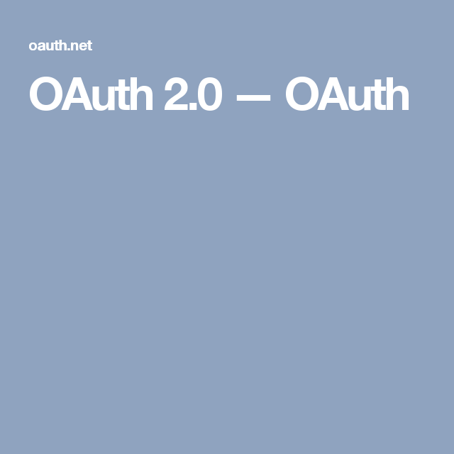 OAuth 2.0 — OAuth Weather