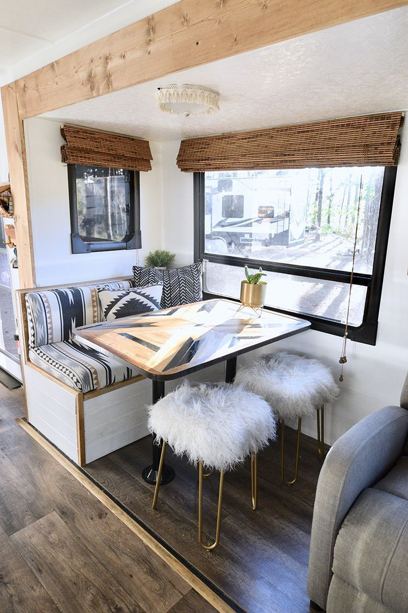 Photo of Tour this plant-filled Travel Trailer renovated with Southwestern Vibes