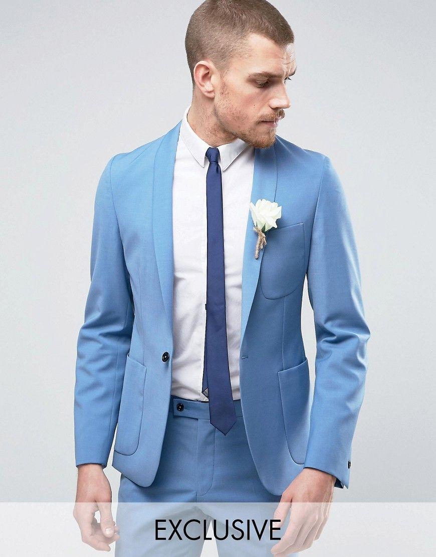 Hart Hollywood Skinny Wedding Suit Jacket With Shawl Lapel ...