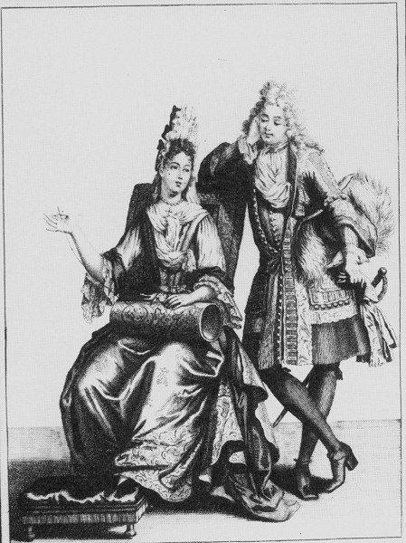 Aristocratic couple 1693 bonnart french couple bonnart for Cuisinier louis 14