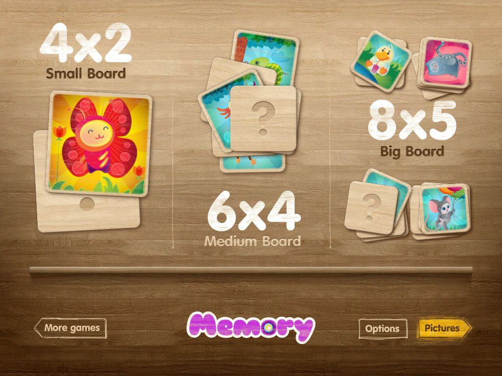 Uncategorized Memory Pairs image of memory pairs matching game for ipad ui art ipad