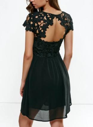 Dresslily open back splicing dress