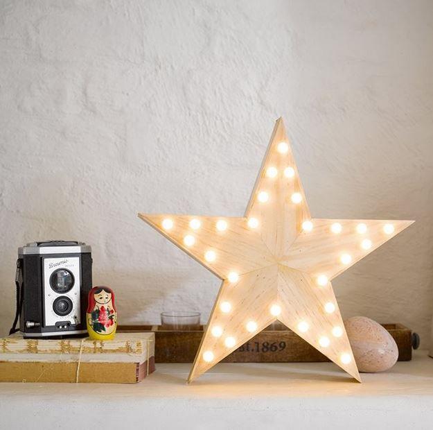 Holz Stern Led Licht Mit 30 Warmen Lampchen Holzsterne Led Licht Led