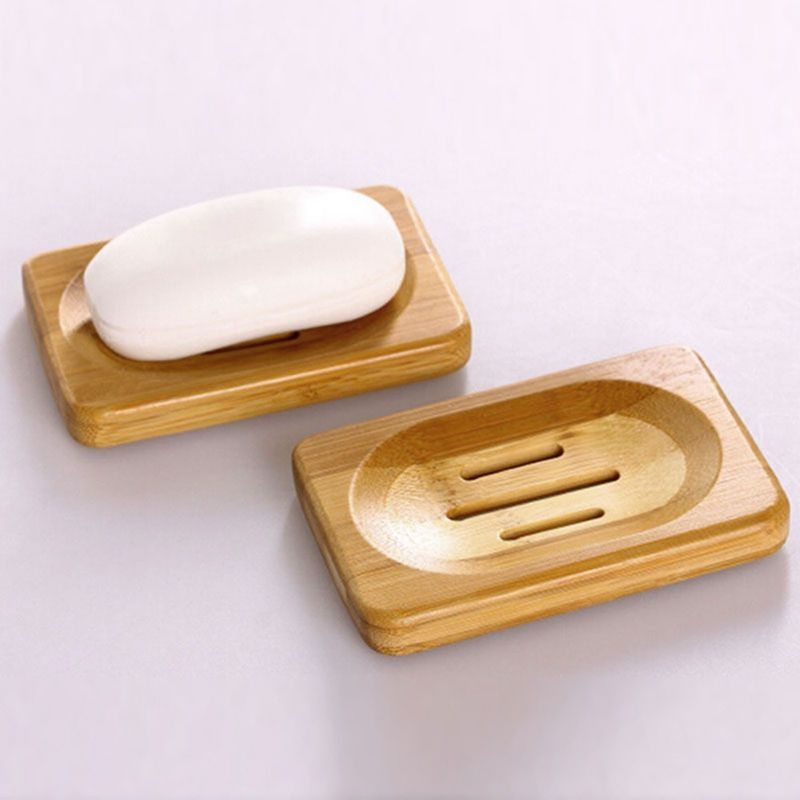 NEW Natural Wood Wooden Soap Dish Storage Tray Holder Bath Shower Plate Bathroom