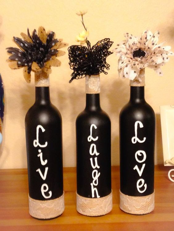 60 amazing diy wine bottle crafts wine bottle crafts diy ideas 60 amazing diy wine bottle crafts crafts and diy ideas solutioingenieria Images