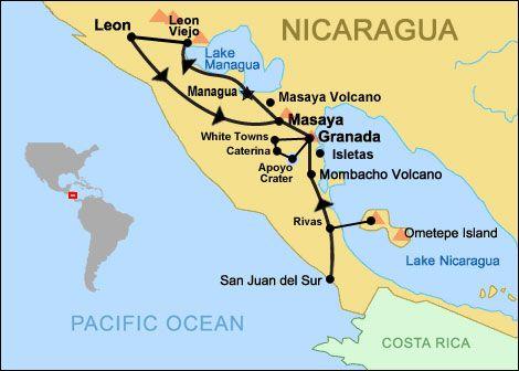 Nicaragua Map Nicaragua Pinterest Wanderlust