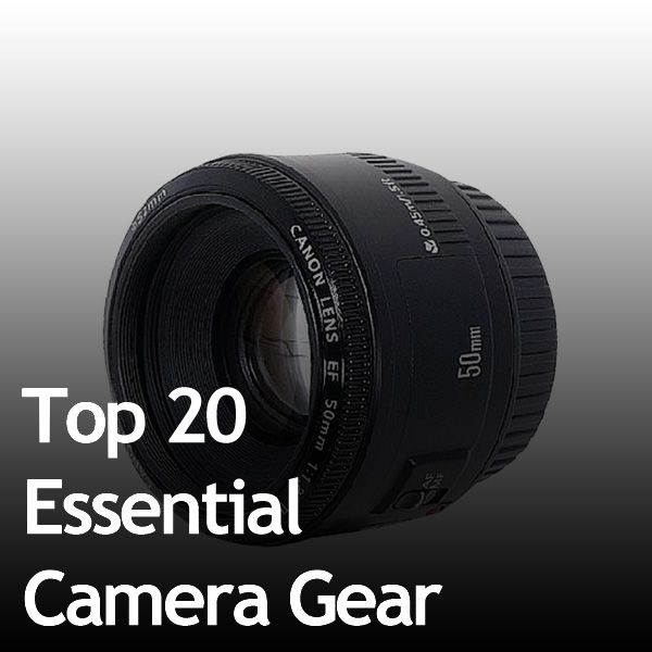 Top 20 essential camera gear this will come in handy