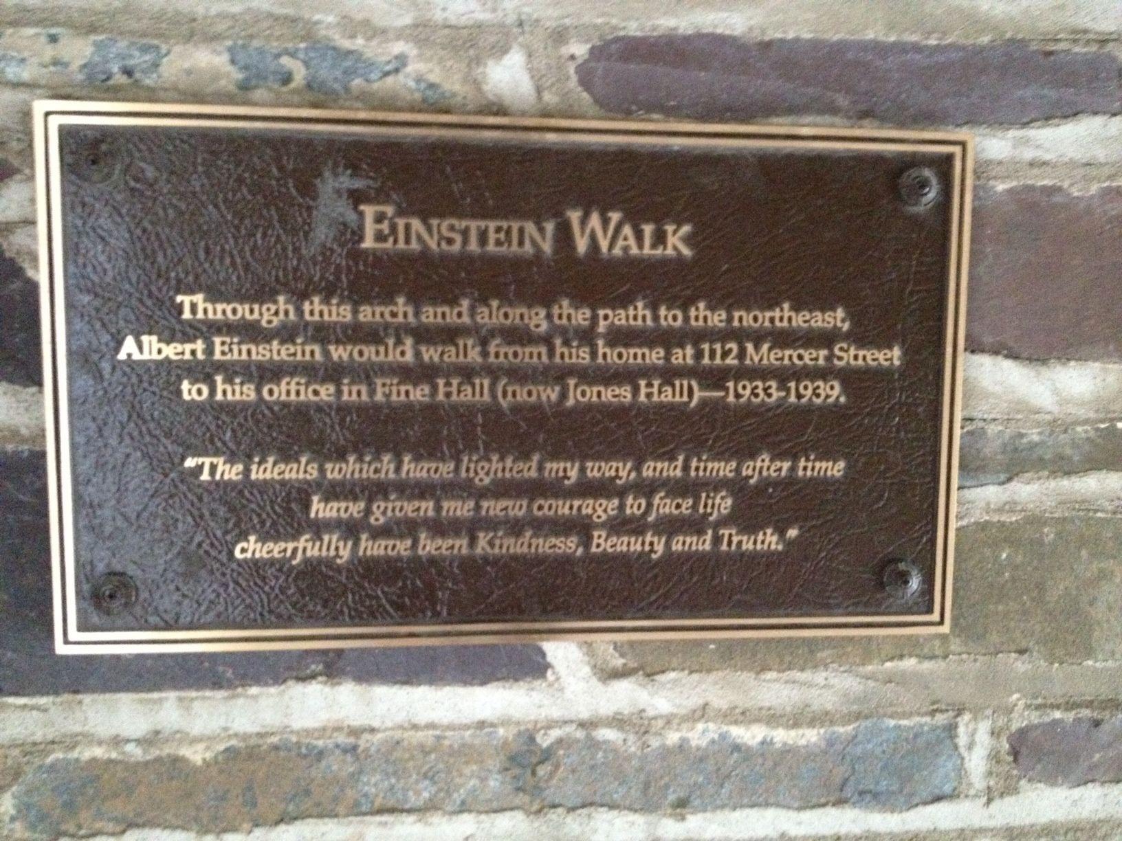 Princeton Walking Tours Einstein Princeton Scientific Thinking