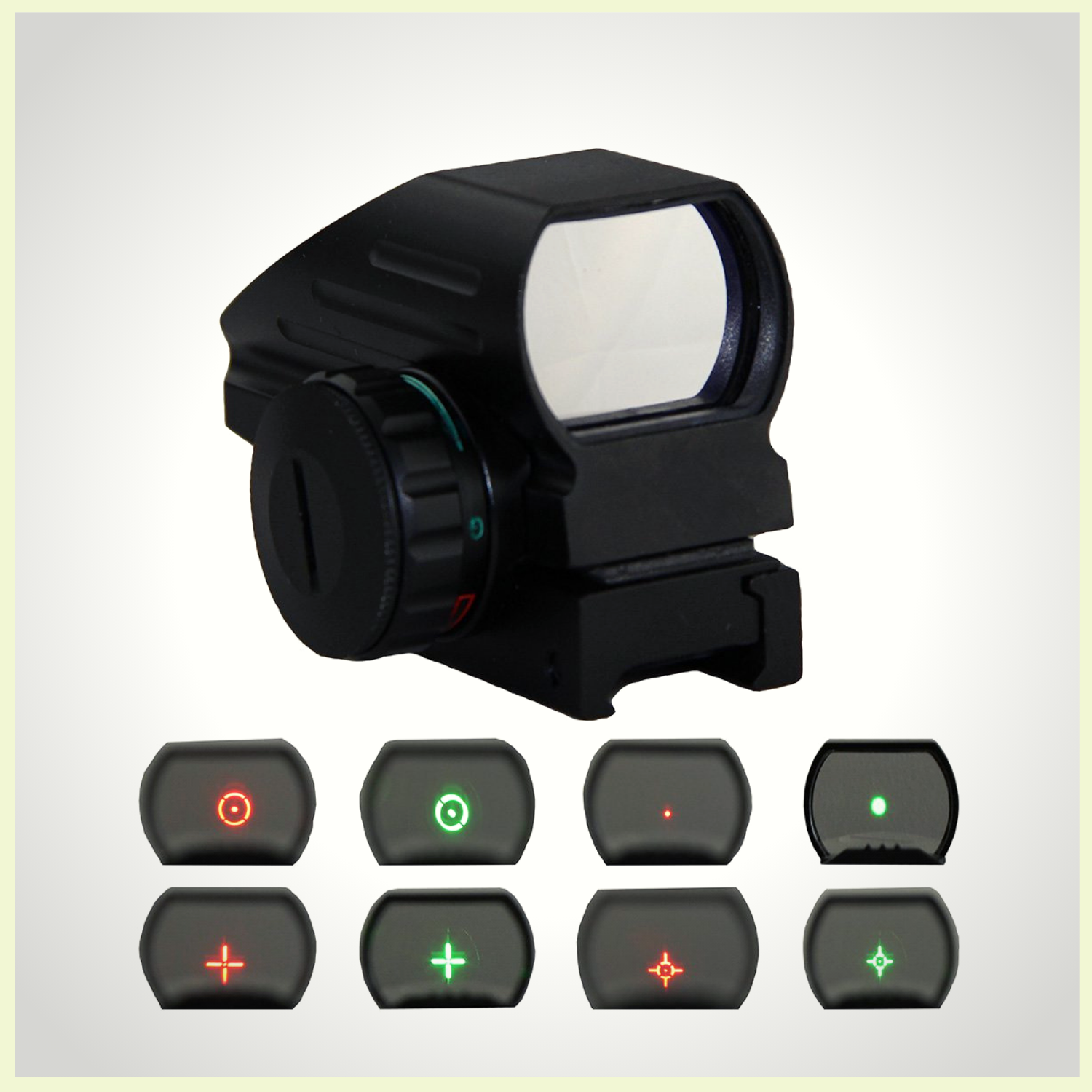 Constructed By Aluminum Alloy With Anodized Matte Black Processing Light Weight And Compact Design Anti Glare Reflective Coated Le Red Dot Sight Red Dots Red