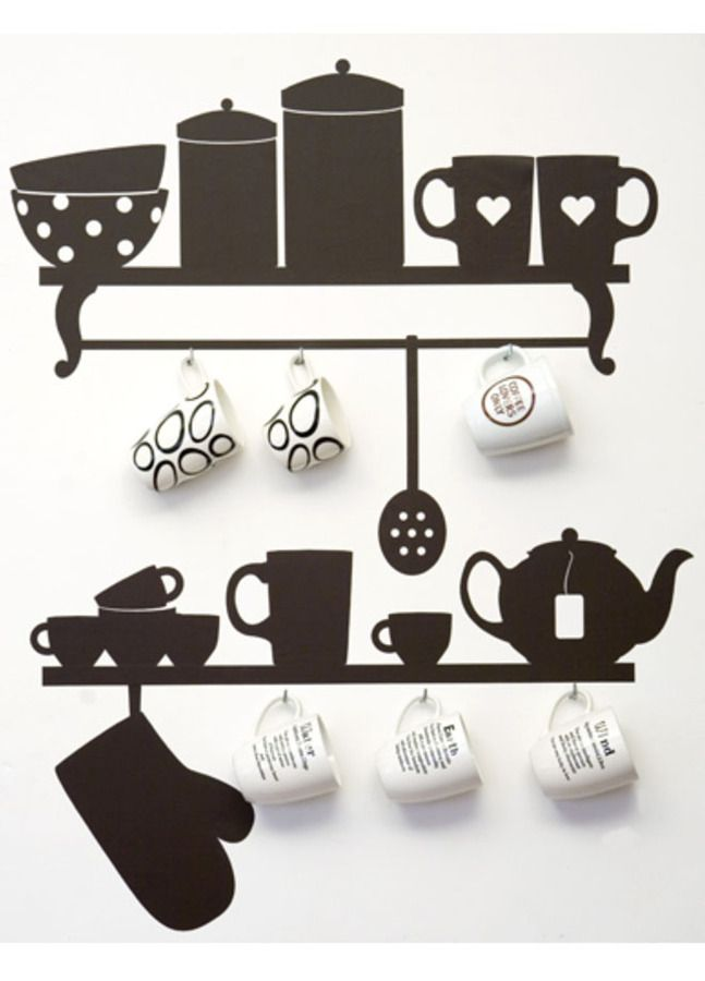 modern wall stickers for kitchen design | diy | pinterest | kitchen