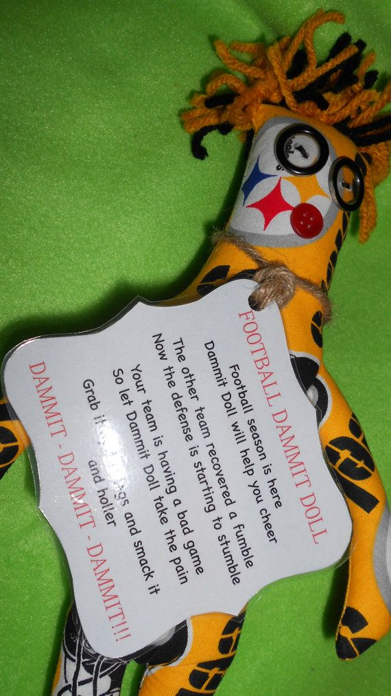 Pittsburg Steelers Dammit Doll by tobeesgifts on Etsy, $18.95 ...