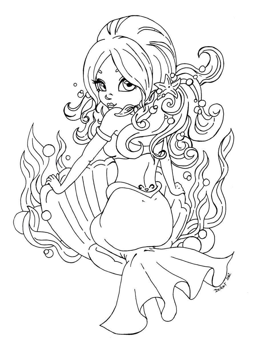 little mermaid coloring pages princess ariel Coloring4free -  Coloring4Free.com | 1203x900