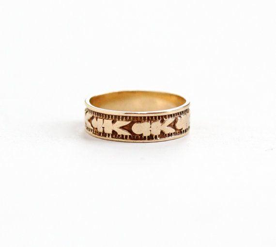 Antique 10K Rose Gold Baby Ring Vintage by MaejeanVintage on Etsy