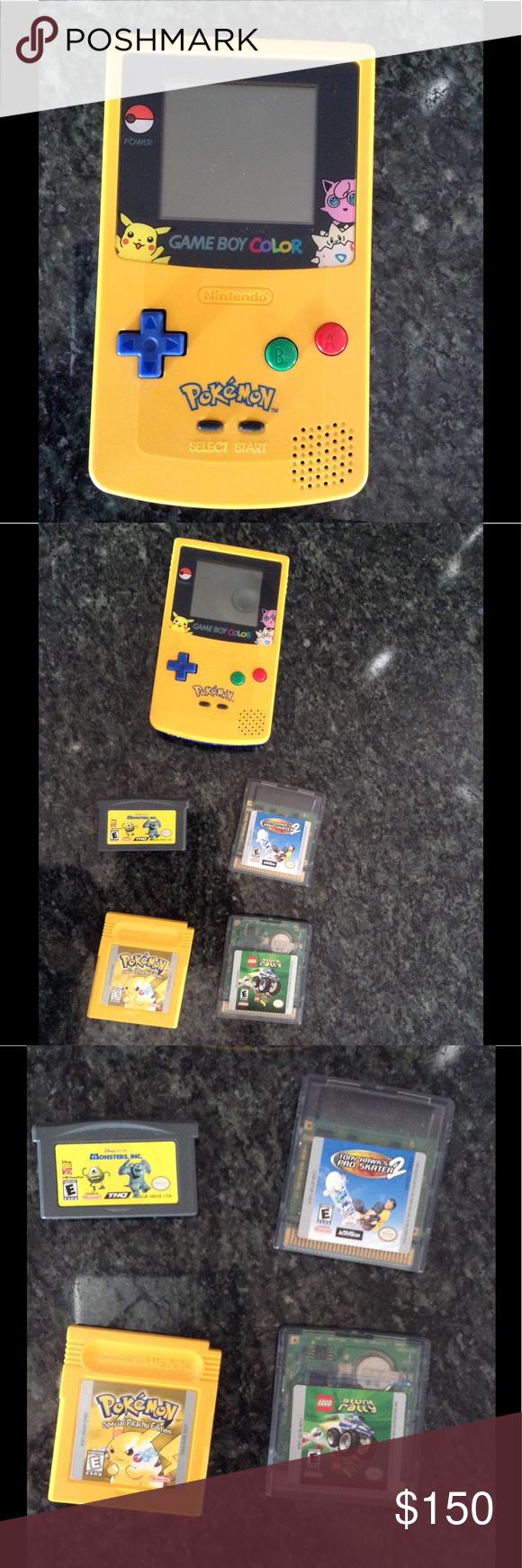 Game Boy Color Special Pokemon Edition Gameboy Pokemon Tony Hawk Pro Skater