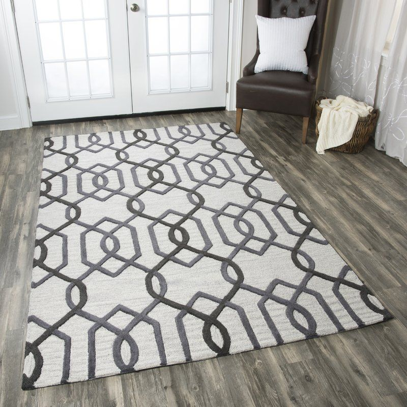 Bursaite Handmade Tufted Wool Gray Rug In 2021 Rizzy Home Hand Tufted Rugs Area Rugs