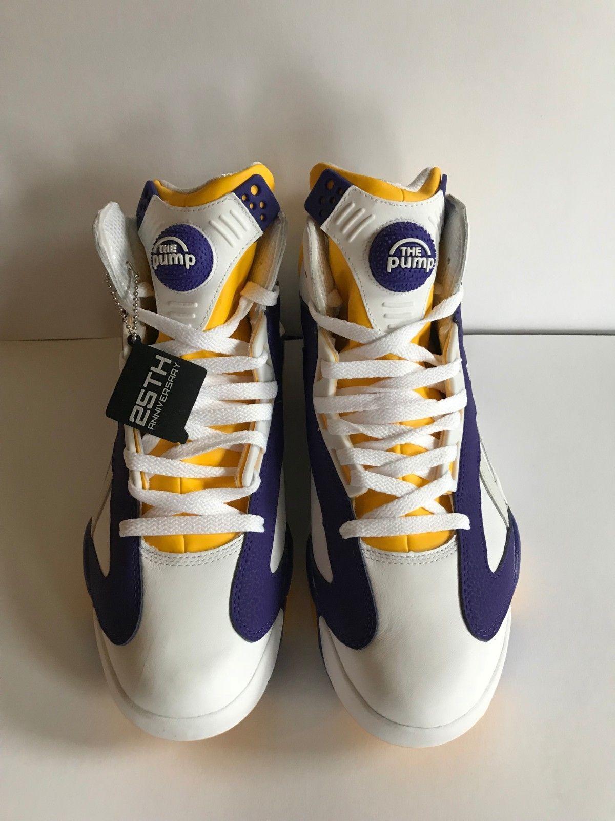 93858feae00 Details about REEBOK SHAQ ATTAQ Pump ALMA MATER LSU Tigers Sneaker ...