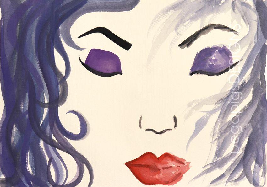 identität - fine art druck   aquarellmalerei, aquarell