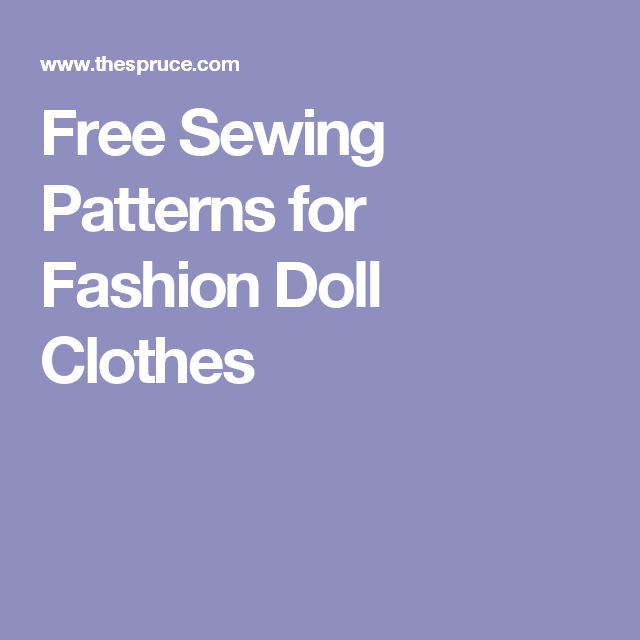Free Sewing Patterns for Barbie and Friends Dolls\' Clothes | Sewing ...