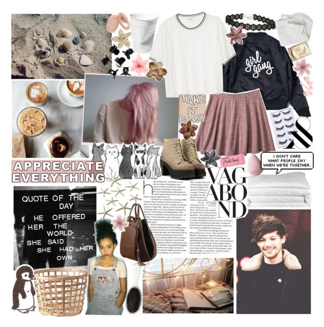 """""""there's no such thing as a perfect crime; ❤️"""" by stainedcoffeecup ❤ liked on Polyvore featuring Mossimo Supply Co., Monki, Frette, Vagabond, Hello Darling, H&M, Clips, Paul & Joe, Paper Mate and ainsleyloveslouisfyi"""
