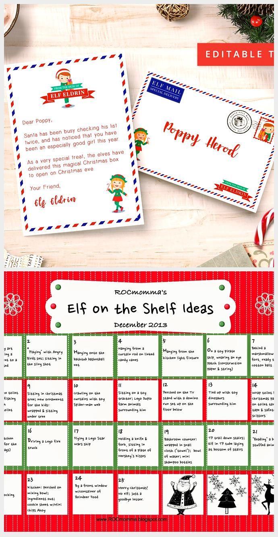 EDITABLE Mini Elf Letter & Envelope, Editable Text PDF