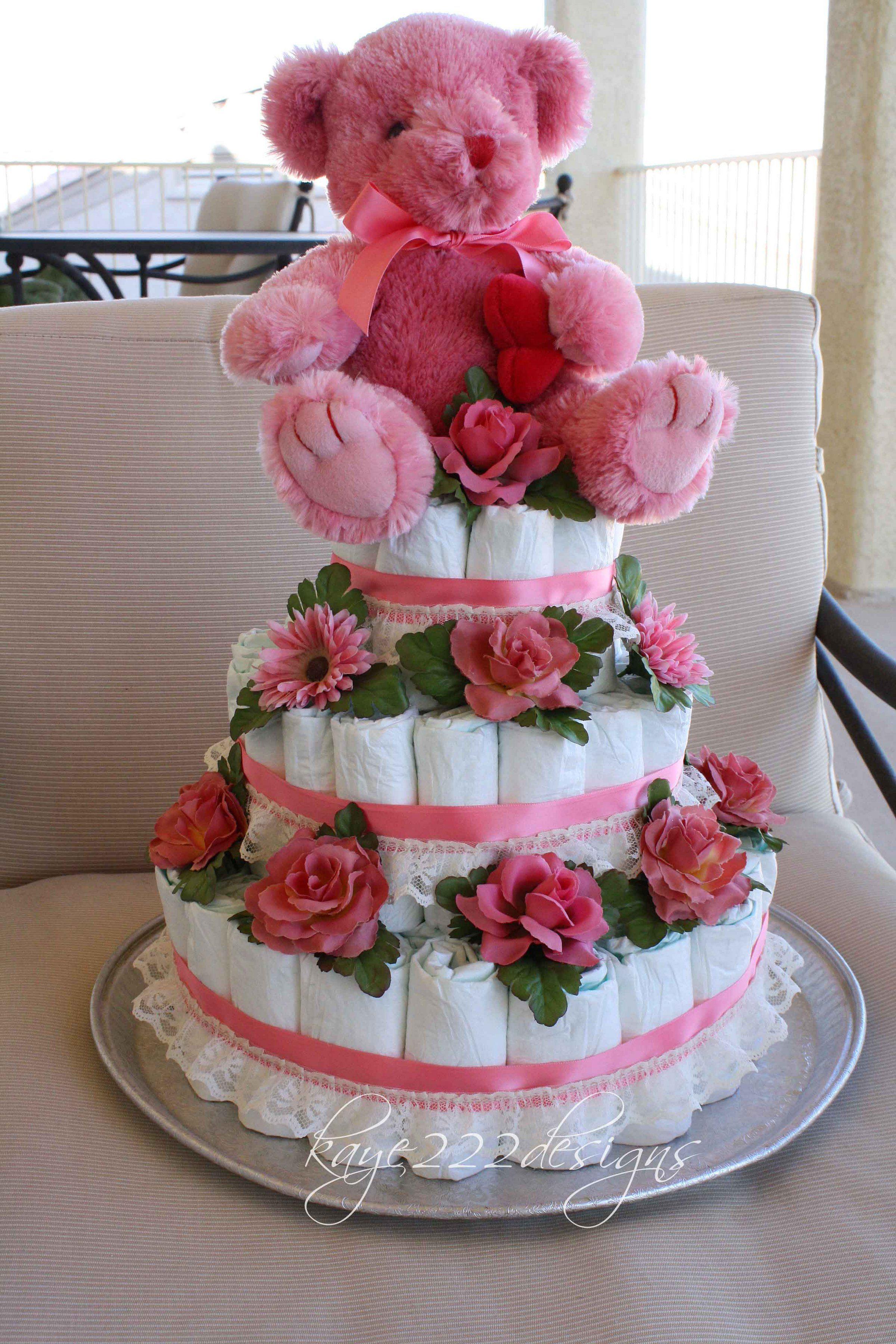 baby girl diaper cakes   Other: Baby Girl Diaper Cake