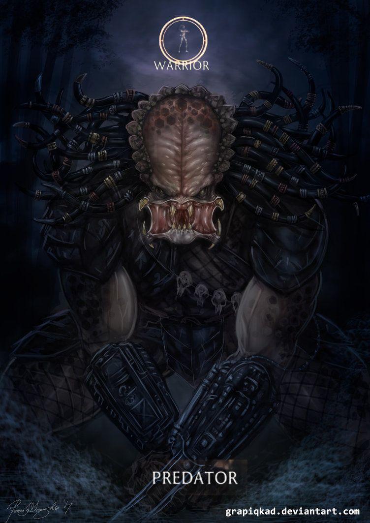 Mortal Kombat X-Predator Warrior Variation by Grapiqkad | horror