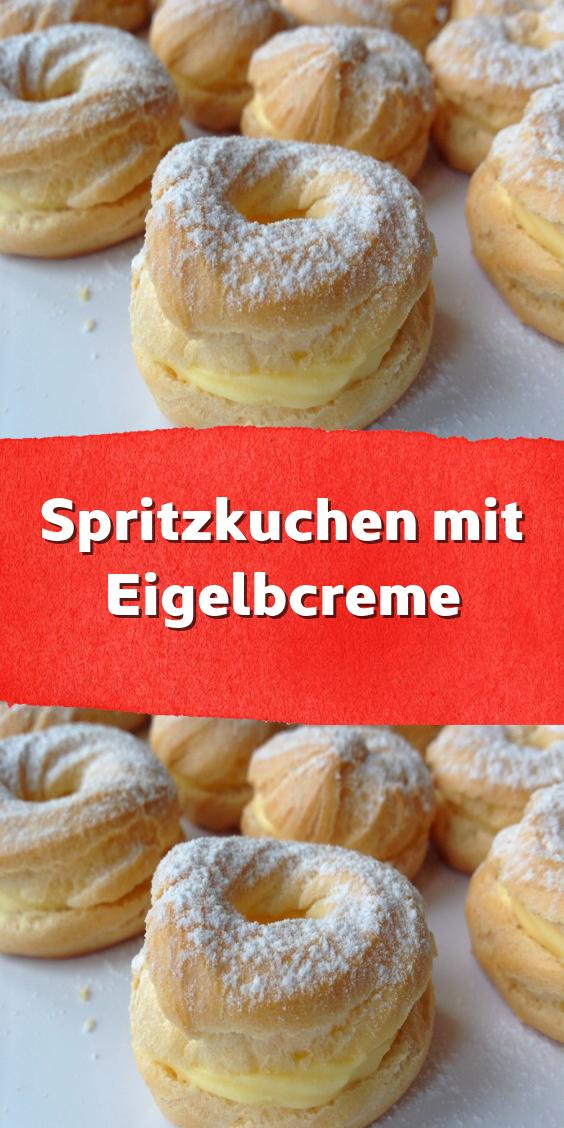 Spritzkuchen mit Eigelbcreme