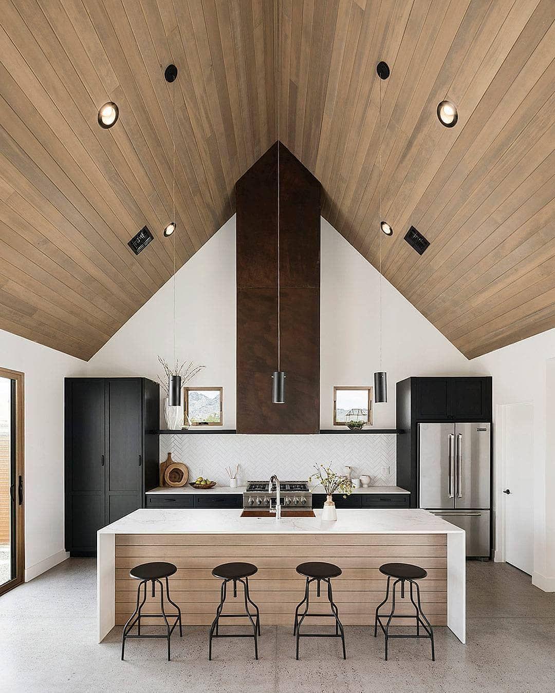This Pitched Roof Kitchen Yes Scandinavian Kitchen Design Modern Farmhouse Kitchens Modern Kitchen Design