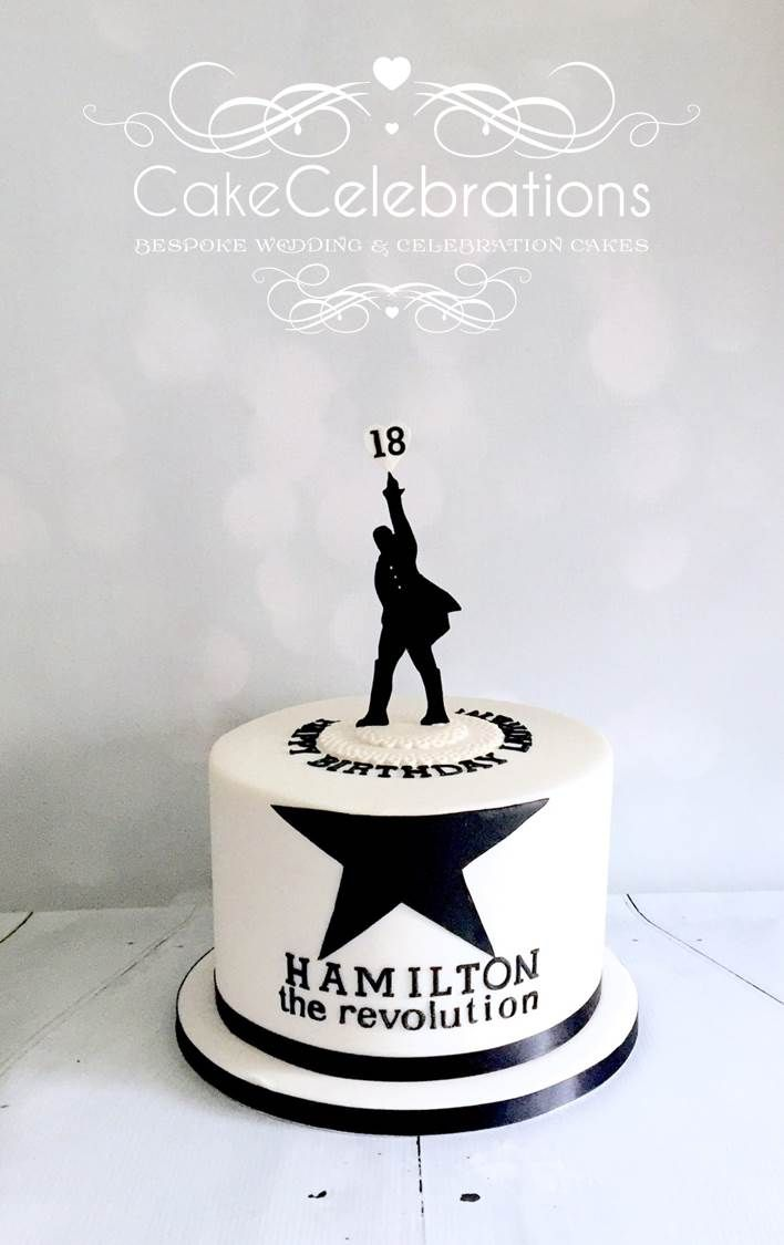 An 18th Birthday Cake for a young lady who loves the Hamilton Play