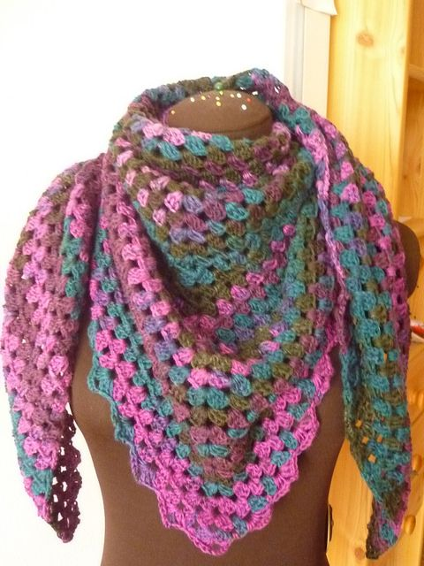 Ravelry Project Gallery For The Original Half Granny Squareshawl