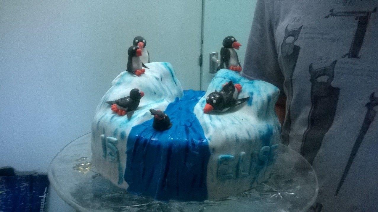 verjaardagstaart penguin