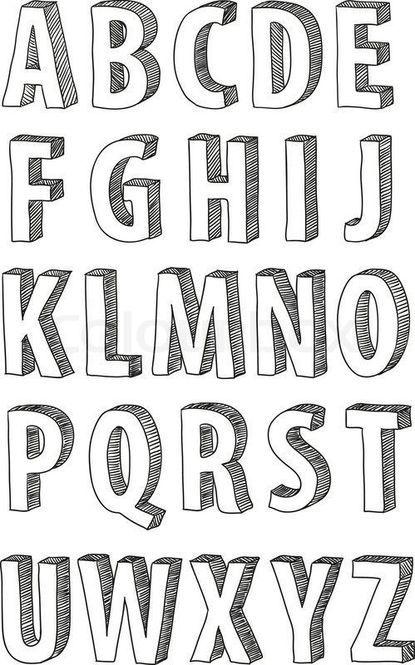 手帳 ノートをお洒落に彩る 簡単デザイン文字の書き方8選 レタリングアルファベット フォントアルファベット タイポグラフィーポスター