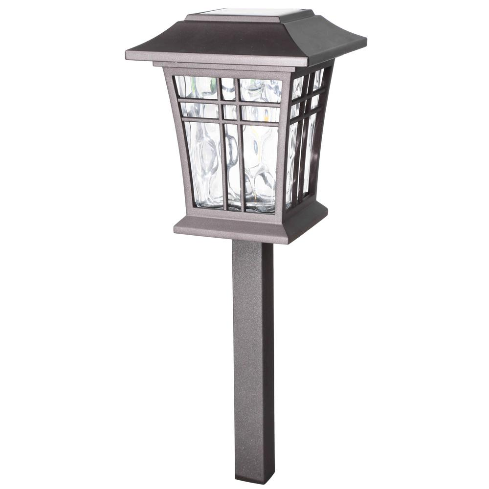 Patriot Lighting Otsego Solar Led Path Light With Bronze Finish And Clear Ribbed Solar Landscape Lighting Rustic Outdoor Lighting Outdoor Lighting Landscape