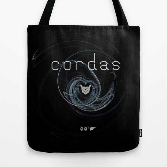 """Vaca - MP: """"Cordas - 001"""" Tote Bag"""