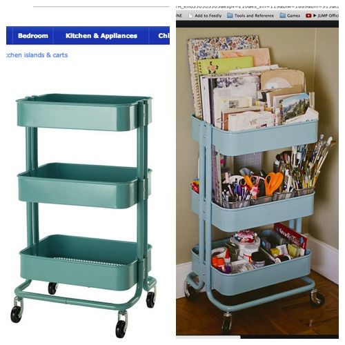 Raskog Utility Cart Turquoise Raskog Cart Craft And Room