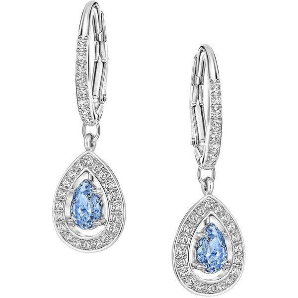 494aa2bdc0066 Swarovski Attract Light Pear Drop Earrings ($99) ❤ liked on ...
