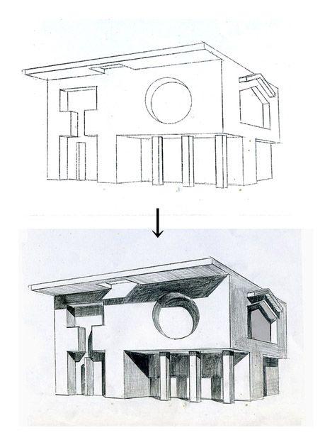 建築パース│見るだけで上達する手描きパースの描き方ブログ、パース講座(手書きパース)