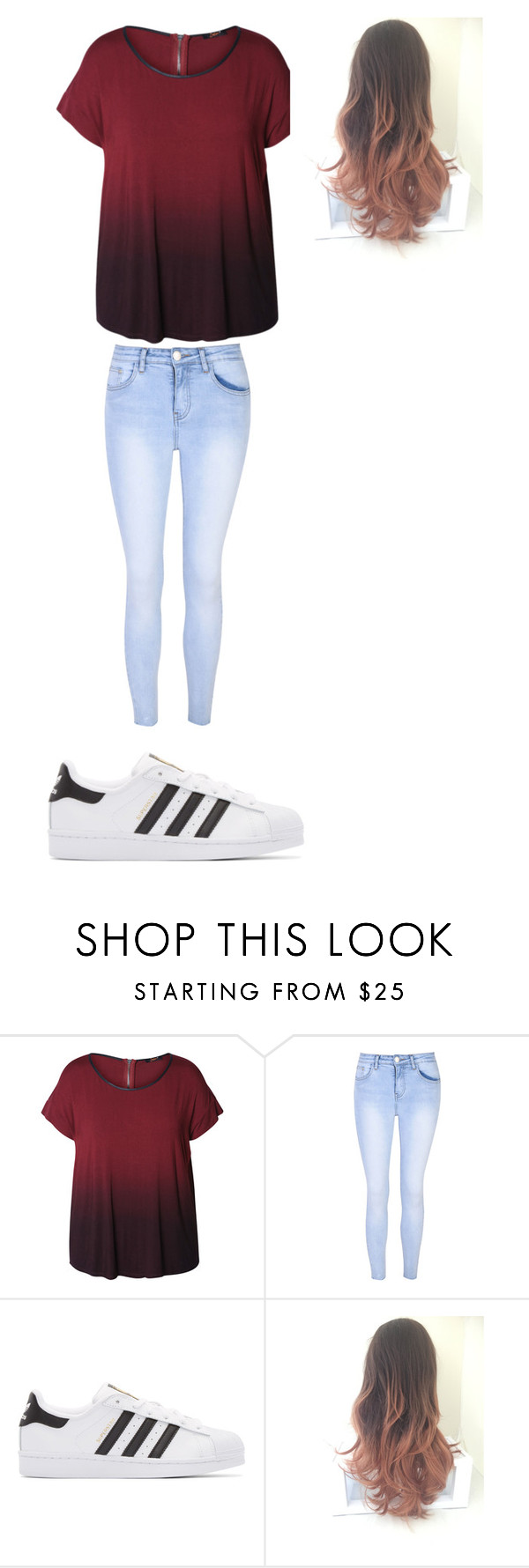 """Untitled #14"" by beutykat132 on Polyvore featuring Dex, Glamorous, adidas Originals and plus size clothing"