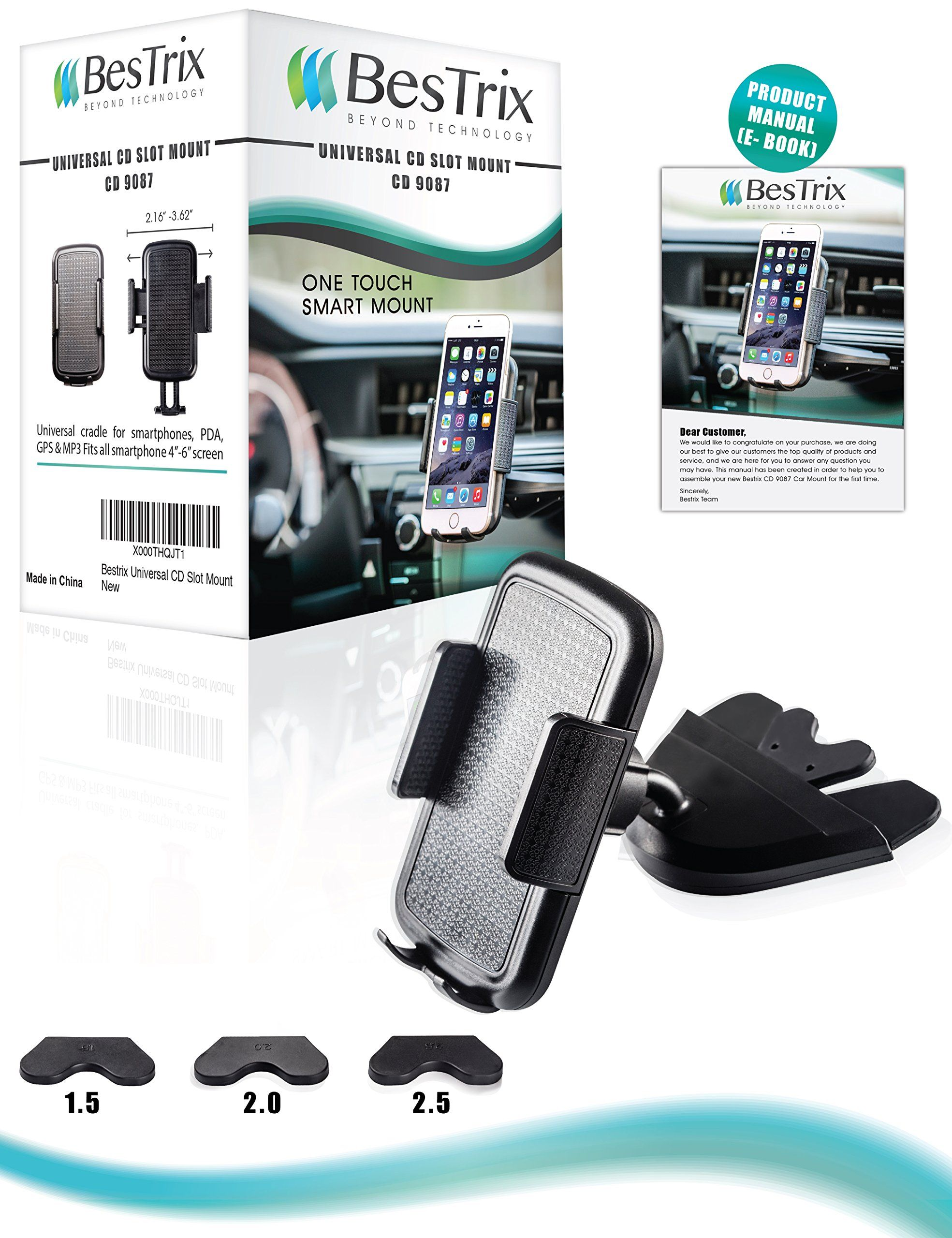 more photos 45be6 ffa30 Amazon.com: Bestrix Universal CD Slot Smartphone Car Mount Holder ...