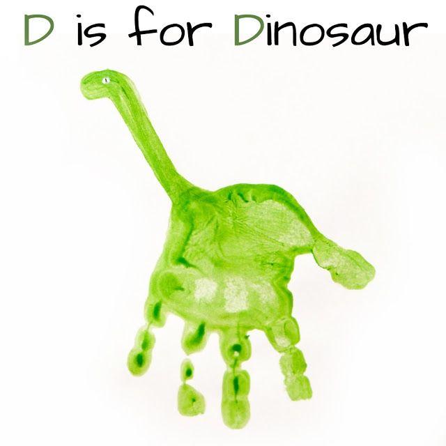 Attractive Dinosaur Craft Ideas For Kids Part - 9: Kids-craft-idea-dinosaur-handprint