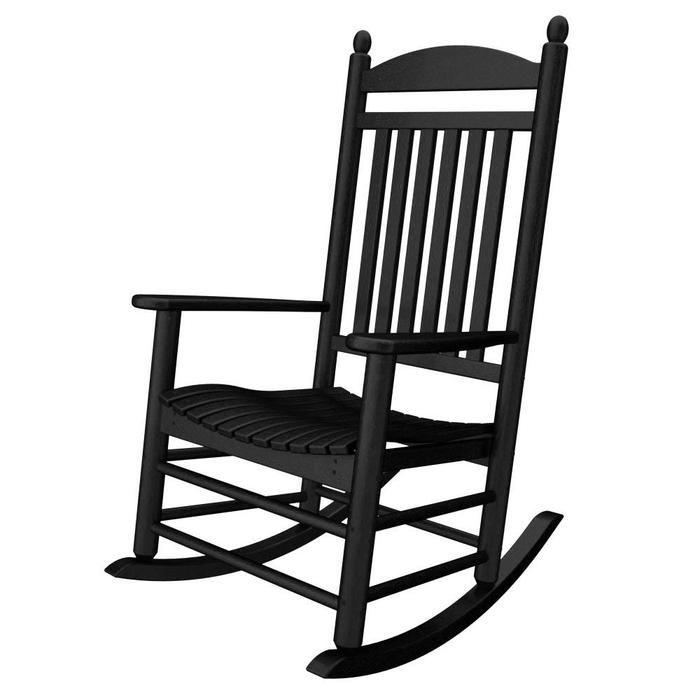 Superior Black Outdoor Rocking Chair
