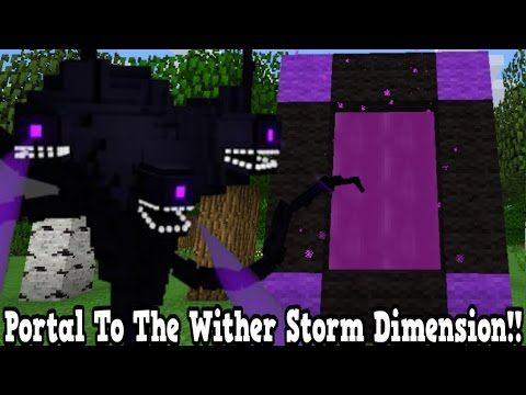 Como Hacer Un Portal A La Dimensión De Roblox Minecraft Minecraft How To Make A Portal To The Wither Storm Dimension Wither Storm Dimension Showcase Youtube Storm Minecraft Portal