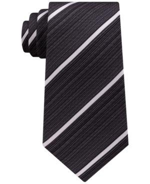 Kenneth Cole Reaction Men's Linear Stripe Tie - Black