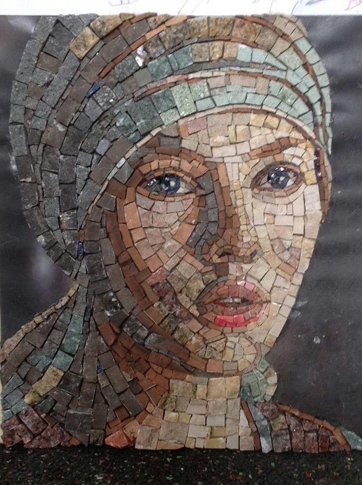 A Face Mosaic Mosaic Mosaic Portrait Mosaic Artwork