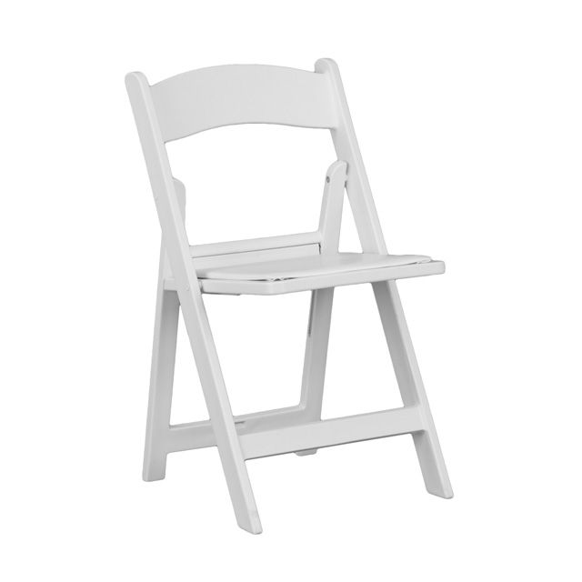 Hercules Series 1000 Lb Capacity White Resin Folding Chair With White Vinyl Padded Seat Folding Chair White Folding Chairs Padded Folding Chairs