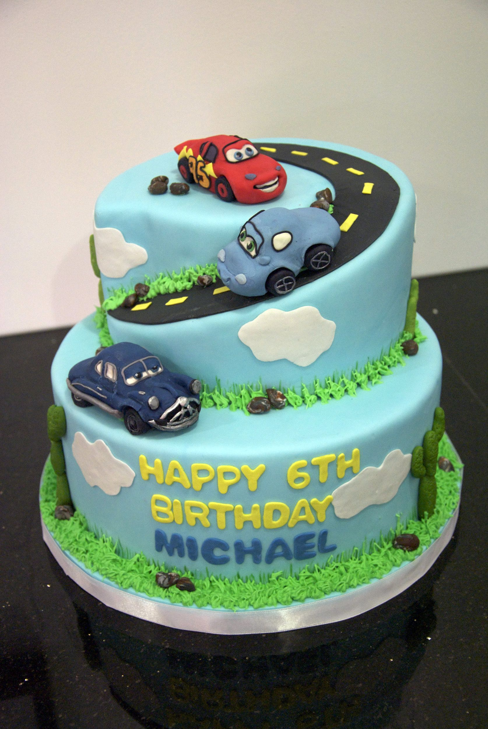 Bc4041 Cars Movie Theme Cake With Images Cars Birthday Cake
