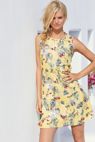 757afcdf92 Buy Linen Blend Dress from the Next UK online shop | Fashion I like ...