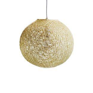 Abaca Ball Shade Natural 32cm From Homebase Co Uk