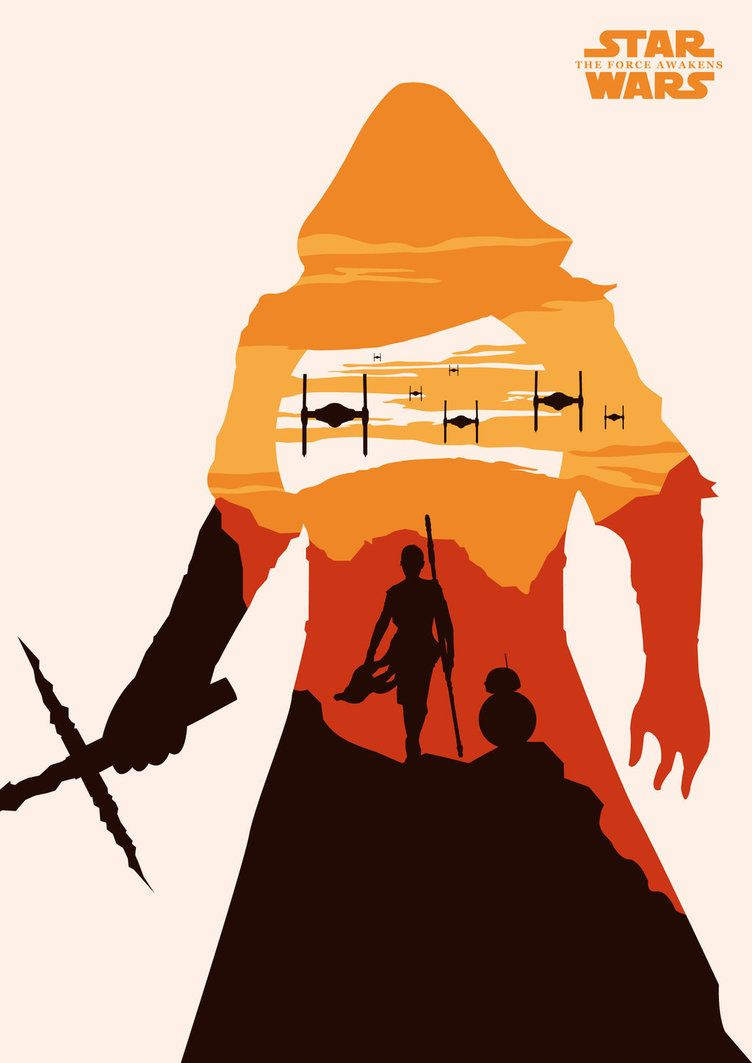 6 star wars minimalistic posters i made for Minimal art vector