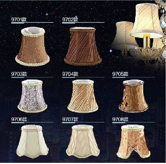 Lighting Fashion Lamp Shade Light Luxury Modern Crystal Candle Lighting  Accessories Fabric Lamp Cover $69.90